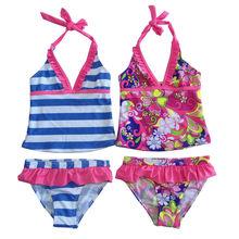 wholesale 2015 new kids sexy 2ps bikini swimwear set