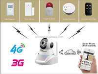3g streaming camera, support 32G sd card, motion detect, email alert , fire sensors