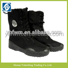 Trendy puncture protection thick rubber sole safety training high boots