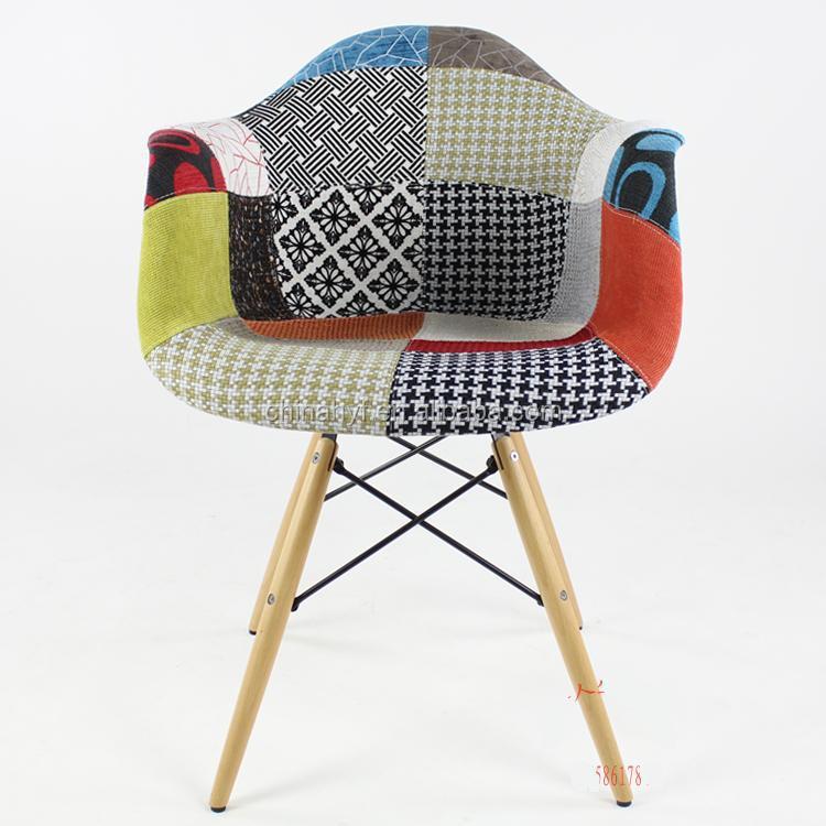 Patchwork en plastique manger fauteuil pp 125e chaises for Fauteuil eames patchwork
