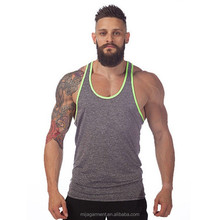 Custom your own logo 100% cotton jersey stringer tank top wholesale