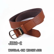 Fashion Punched Genuine Leather Fan Belt For Jeans
