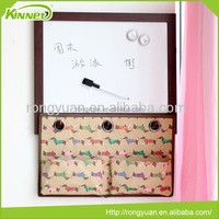 Home decoration whiteboard with storage hanging bags