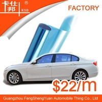 Hot product high definition film blue car window film with free sample