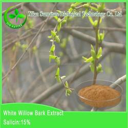 100% Natural White Willow Bark P.E .manufacture supply CAS No. 138-52-3