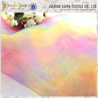 6''*25yard or 100yard polyester cheap rainbow tulle fabric