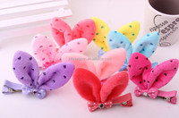 Best Selling Wholesales Fabirc rabbit ear hair clip hairpin hair accessories for baby girls