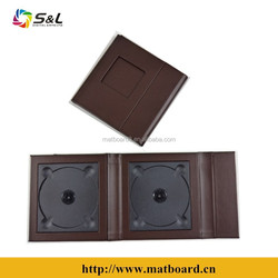 high quality new design leather cdr and dvd decorative case manufactured