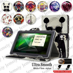 For Point of View Mobii 785 Printing Tablet Book Flip Leather Case Folio Stand Tablet Case Cover