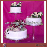 Hot Sale 3 Tier Acrylic Cake Display Stand For Wedding