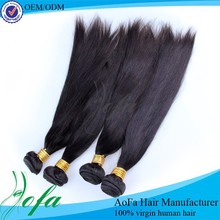 Tangle free 24 inch wholesale cheap best quality straight hair 1b#