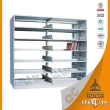 Heavy duty customized school library furniture steel bookshelf