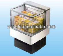 Yacold mini open island freezer/upright refrigerated refrigerator