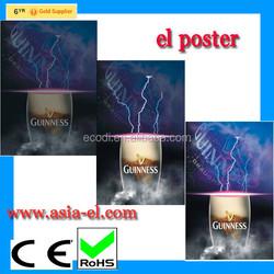 China factory newest city light up poster China wholesale led flashing poster