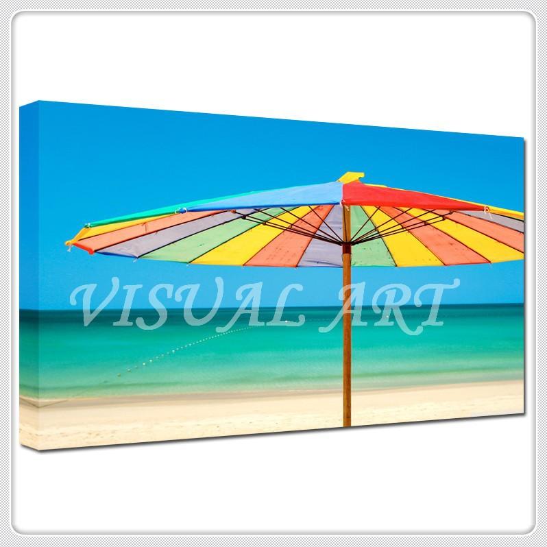 ตกแต่งฤดูร้อนชายหาดทิวทัศน์ผ้าใบพิมพ์ไทย