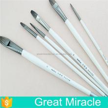 Wholesale 6 pcs per set drawing brushes set,badger hair acrylic paint brushes