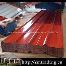 prominente fabricante en china de colores recubiertos de chapa de acero para el techo