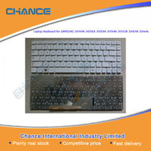 Laptop Keyboard for SAMSUNG 300V4A 3430EA 305E4A 305V4A 305V3A 300E4A 300e4x, notebook keyboard replacement white color