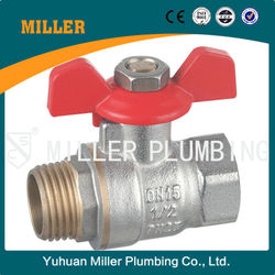 MILLER ZHEJIANG suply 3/4 inch Forged Brass Ball Valve For Water And Gas With Steel Handle two Way brass ball valve ML-2003
