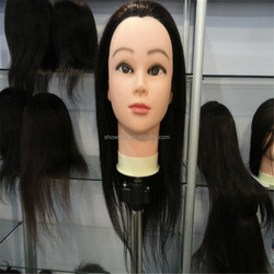 Cheap human hair training mannequin head for hairdresser wholesale