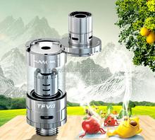 no need to screw off drip tip, just a simple press top refill tank triple coil atomizer smok tfv4