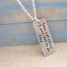 i am not afraid I was born to do this of Joan of Arc Tag Necklace
