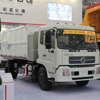 Small garbage can cleaning truck
