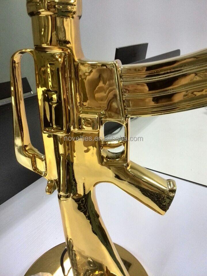 Gold Replica Guns Gun Floor Lamp With Gold