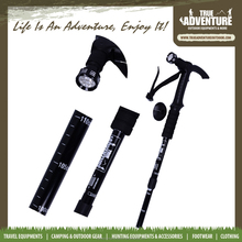 True Adventure TB2-001 2015 Outdoor New Design Carbon Adjustable Folding Canes Walking Poles Hiking Stick Walking Stick