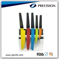 Colorful Kitchen Cutlery Set with Rack