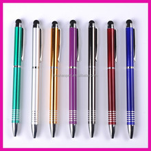 Promotional gift metal ball pen school stationary customized metal pen, metal touch pen for promotional gifts