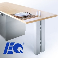 Promotional 80x80 Elegant Table Side Aluminum Frame Leg