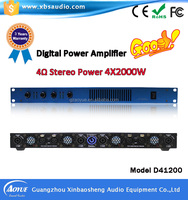 High quality low cost professional digital power amplifier by Guangzhou manufacturer