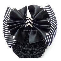 H058 Free shipping New Cheap hair flower jewelry for bank worker Striated hair ornament for Restaurant waitress Cheap hair clip