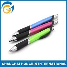 Blue Metal Click Clip Ball Pen
