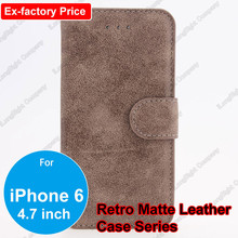 Luxury Retro Vintage Wallet Leather Case Cover Pouch With Stand Credit Card Holder For iPhone 6