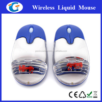 OEM Logo Printing Cute Liquid Filled Mouse For PC