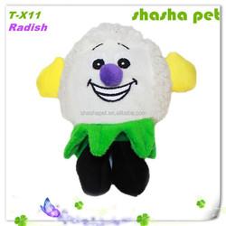 Radish plush squeaker pet toy,pet product,dog toys,cat toy