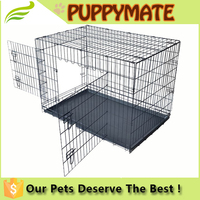 Two way open doors, two doors of mental dog kennel/ dog cage for sale