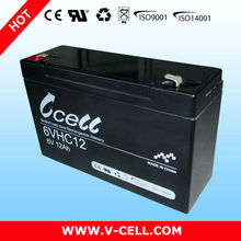 Quality disposable 6V 12Ah batteries for photovoltaic