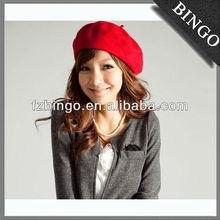 Cap boina vermelha e chapéu / lã boina com a moda personalizada para venda