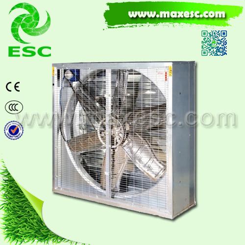 Low noise 50 inch louvered exhaust window fan for poultry for 10 inch window exhaust fan