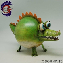 handcraft crocodile metal animals figurines for home art decoration