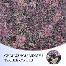 boiled 100% wool merino wool fabric with print colored flower for winter coats