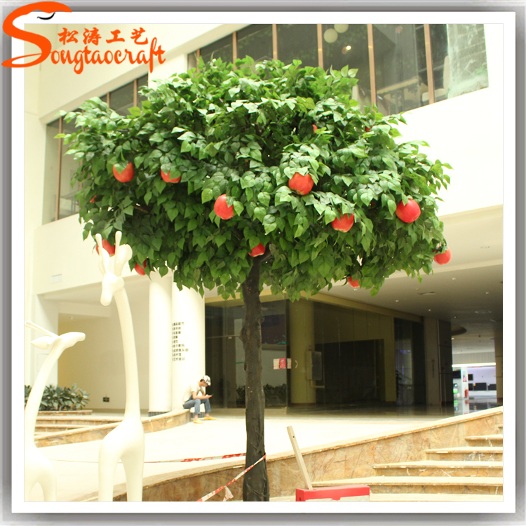 Indoor Decorative Fake Apple Tree Large Plastic Apples For Sale Home ...