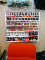 2015 wholesale metal nail polish stands wall mount display racks