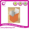 2015 Hot Sale Orange and White Polka Dot Party Favor Box