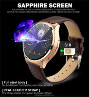 2015 Wrist watch mobile Phone for Apple iPhone Android Bluetooth Smart watch Touch Screen Support Sim card heart rate monitor