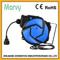 PVC material 3G1.5mm cable automatic mini electrical cord reel