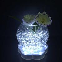 6 inch white LED Vase Base Light / LED Bright Centerpiece Light